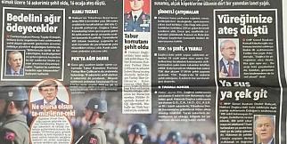 Trabzon'da Gazeteler Karardı