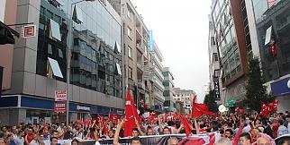 Trabzon'da Şehitleri İçin Yürüdü!