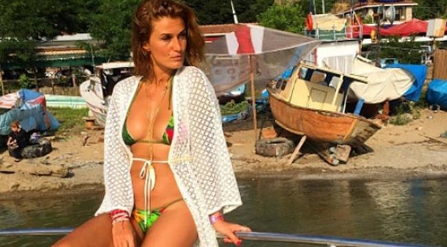 Tuğba Özay'ın bikinili paylaşımı olay oldu!