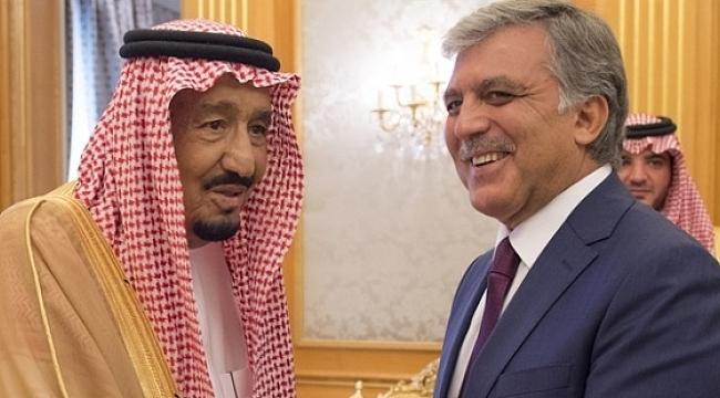 Abdullah Gül ile Kral Selman ile bir araya geldi