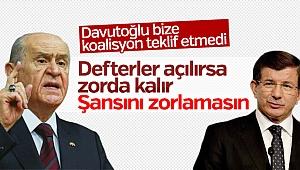 Şok iddia! MHP ile Davutoğlu kavgası büyüdü
