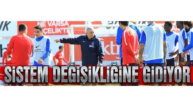 Trabzonspor'da sistem değişiyor