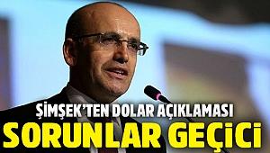 Mehmet Şimşek: Yaşanan sorunlar geçici