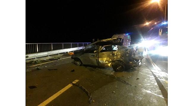 Trabzon'dan Rize'ye giden araç kaza yaptı