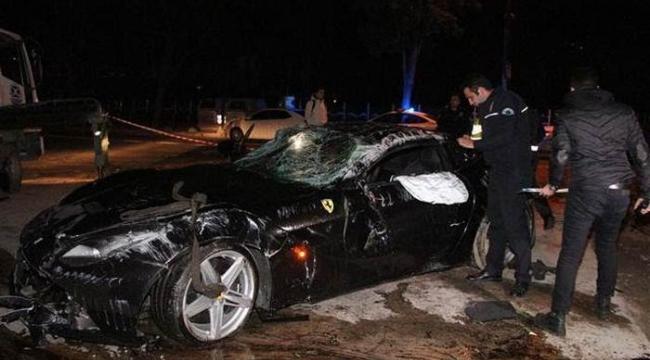 Burak Yılmaz'ın takla attığı Ferrari'nin kimin olduğu ortaya çıktı