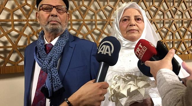 80 yaşında yeniden evlenen Trabzonlu çift