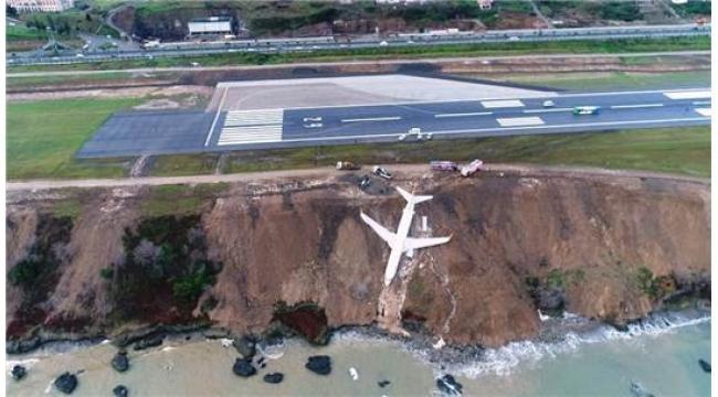 """Trabzon'da Pistten Çıkan Uçağın Pilotu: """" Uçak Birden Hızlandı"""""""