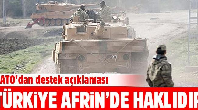 NATO: Türkiye Afrin'de haklıdır