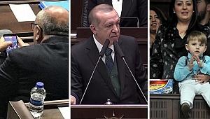 Erdoğan konuşurken Türkeş, Candy Crash oynadı