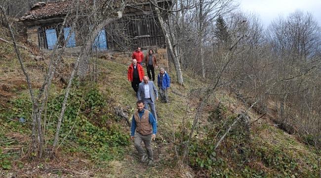 Trabzon dağlarında koşu zamanı