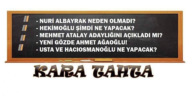 Trabzonspor kulislerinden Kara Tahta'ya yazılanlar
