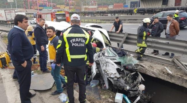 Trabzonlu Vali Aksoy'un eşi o kazada yaralandı