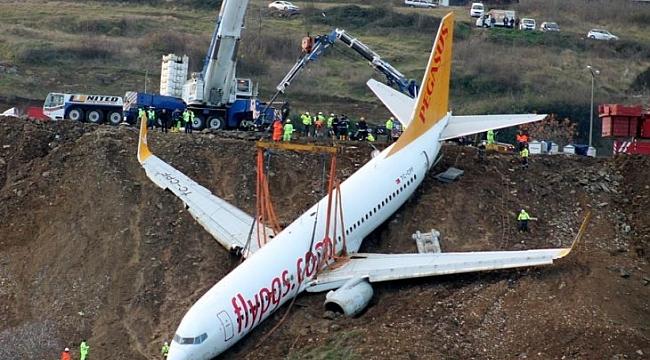 Trabzon'da pistten çıkan uçak bakın ne olacak