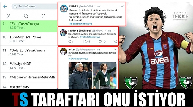 Trabzonspor taraftarı O'nu istiyor