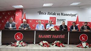Saadet Partisi Trabzon'da bayramlaştı