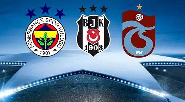 UEFA'dan Fenerbahçe, Beşiktaş ve Trabzonspor kararı!.
