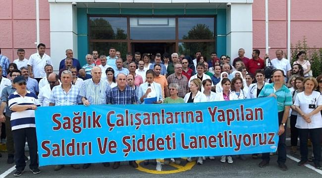 Trabzon'da doktorlar şiddeti kınadı