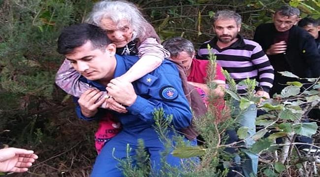 Arsin'de, Jandarma nineyi sırtında taşıyarak kurtardı