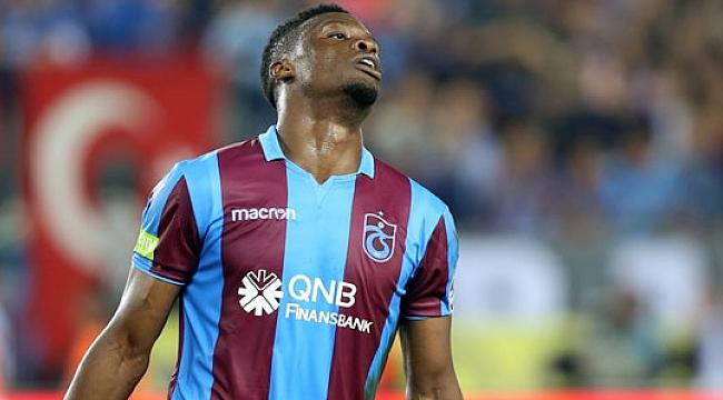 Trabzonspor'da Ekuban'ın şanssız günü