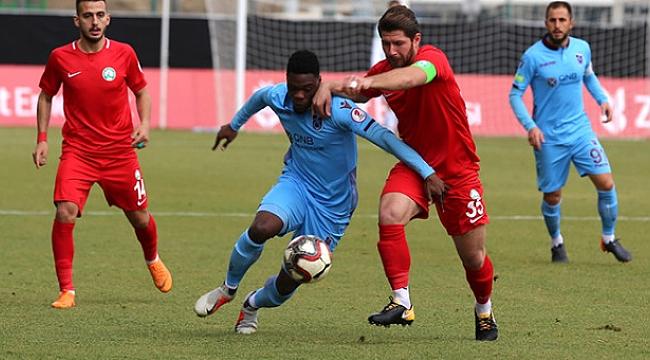Trabzonspor deplasmanda berabere kaldı