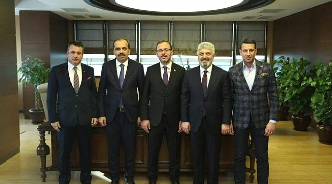 Hekimoğlu, Bakan Kasapaoğlu ile görüştü