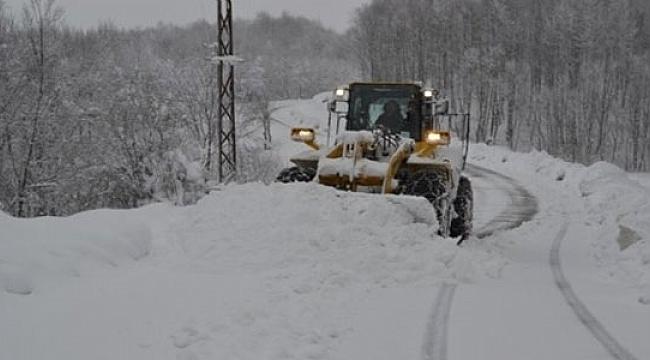 Kar Doğu Karadeniz'de köy yollarını kapattı