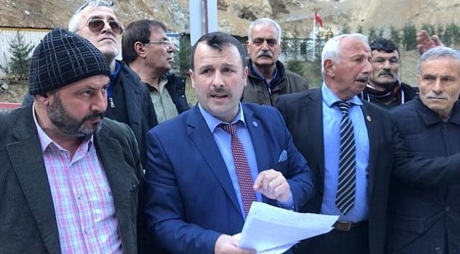 Çaykara'da Muhtarların Taş Ocağı İsyanı