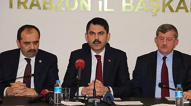 Çevre ve Şehircilik Bakanı Kurum, Trabzon'a geliyor