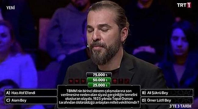 Skandal sorusu tepki çeken TRT'den Topal Osman özrü