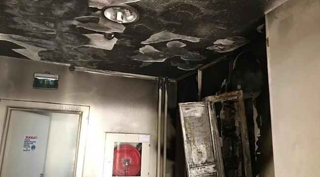 Sürmene'deki yangında itfaiye çaresiz kaldı