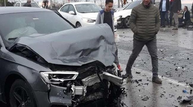 Trabzonspor'lu oyuncu kaza yaptı