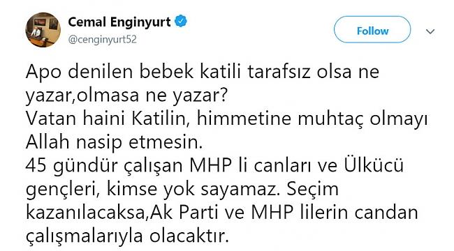 Teröristbaşının açıklamasına MHP'den ilk tepki