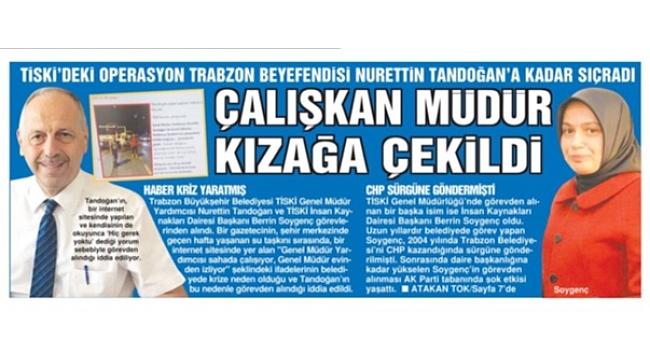 Trabzon Büyükşehir'de başkan operasyonu