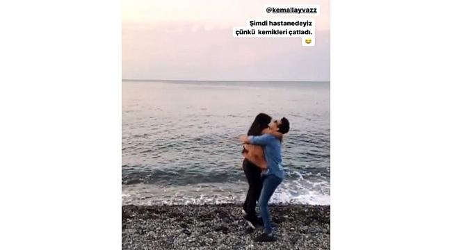 Hanife Trabzon'da sevgilisiyle sarmaş dolaş