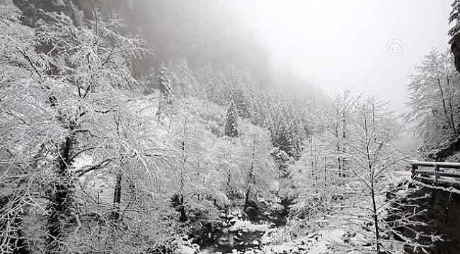 Trabzon dağları karlı bir başka güzel