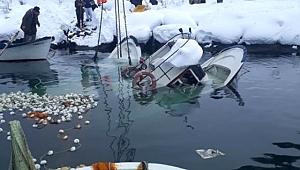 Akçaabat'ta iki tekne battı