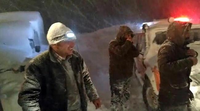 Trabzon'da mahsur kalan orman işçileri kurtarıldı