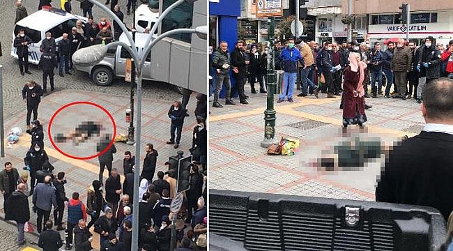 Rize'de dehşet... Boşandığı eşini sokak ortasında vurdu