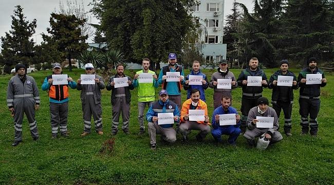 Trabzon'da koronavirüsle mücadelede dezenfeksiyon çalışmaları sürüyor