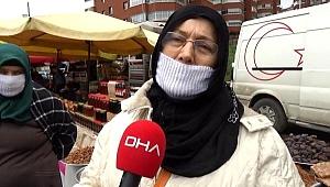 Trabzon'da semt pazarında 'koronavirüs' tedbirleri