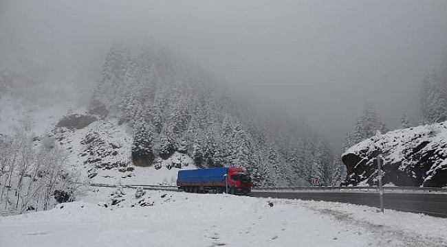 Trabzon'da kar yağdı