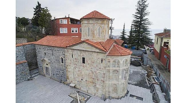 Akçaabat'taki kilise turizme kazandırıldı