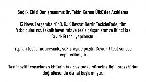 Beşiktaş'ta 8 kişide Koronavirüs tespit edildi