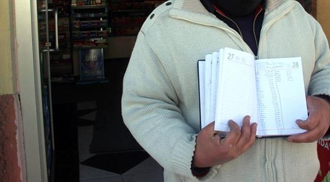 Çaykara'da yarım milyonluk veresiye defterini kapattı