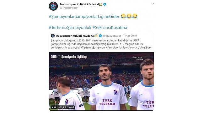 Fener'in 2011 paylaşımına Trabzonspor'dan kapak