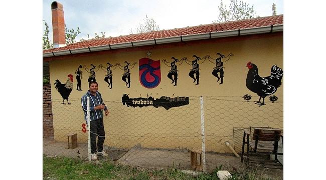 Memleket hasreti duvarlara yansıdı