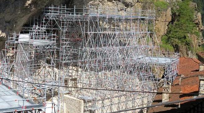 Sümela Manastırı'nda restorasyon yeniden başladı