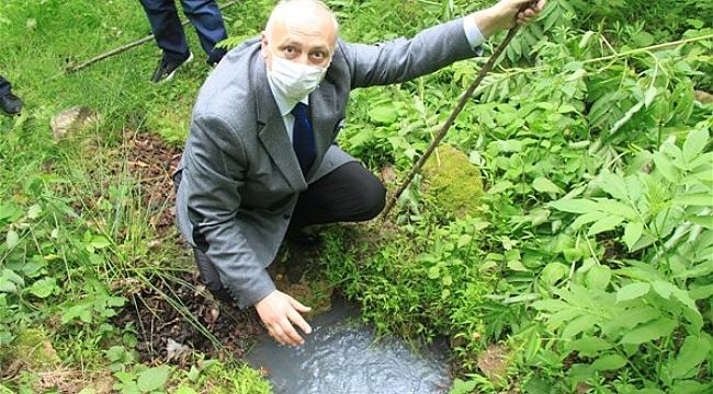 Trabzon'da fındıklık içinde kaplıca ve maden suyu bulundu