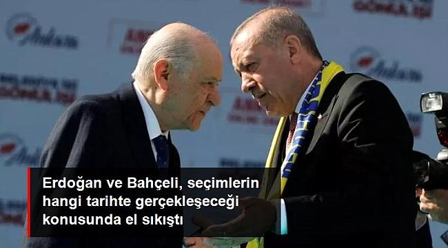 Erdoğan ve Bahçeli, seçim tarihinde anlaştı