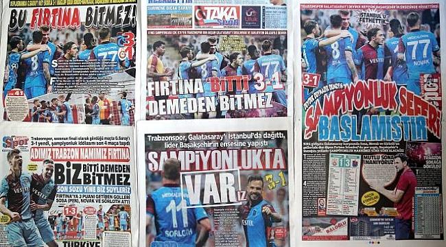 Trabzon yerel basınında Galatasaray galibiyetinin yankılarıC